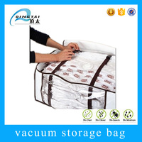 Clothing storage folding non woven smart bag vacuum plastic bags