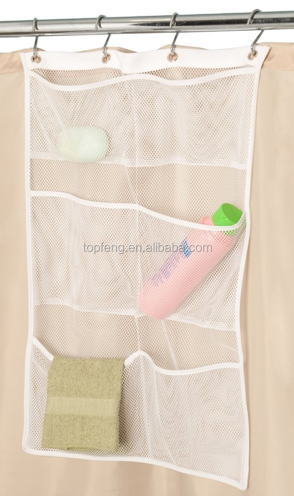Hanging Mesh Pocket Organizer/6 Pockets Hanging Mesh Shower Caddy ...