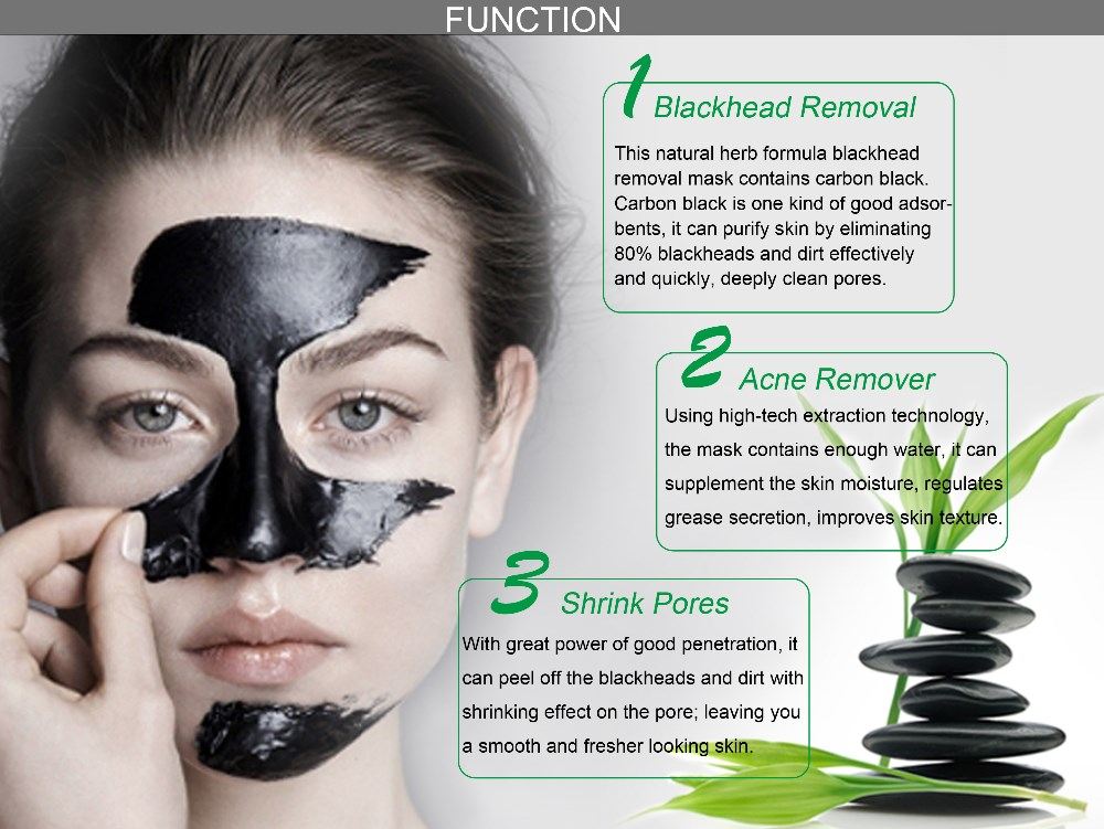 Private label cosmetics Free sample blackhead dirty remover deep cleansing black mask nose purifying peel off black facial mask