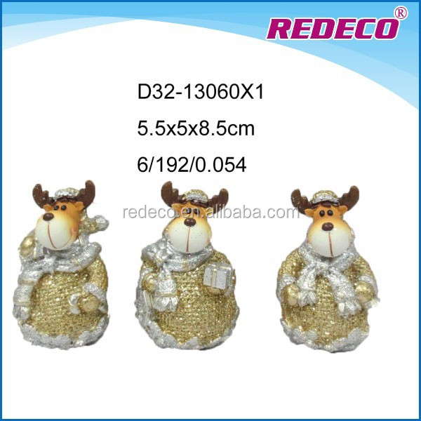Christmas ornament resin mini deer decoration
