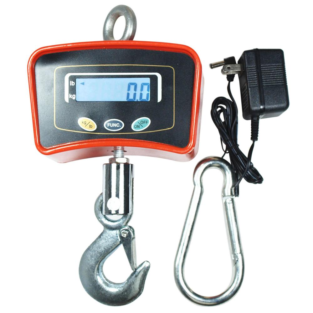 500kg 1000kg Digital Crane Scale Electronic Factory Weighing Scale Weight Function Big LED Display Carbon Steel 0.5KG~2KG CN;ZHE