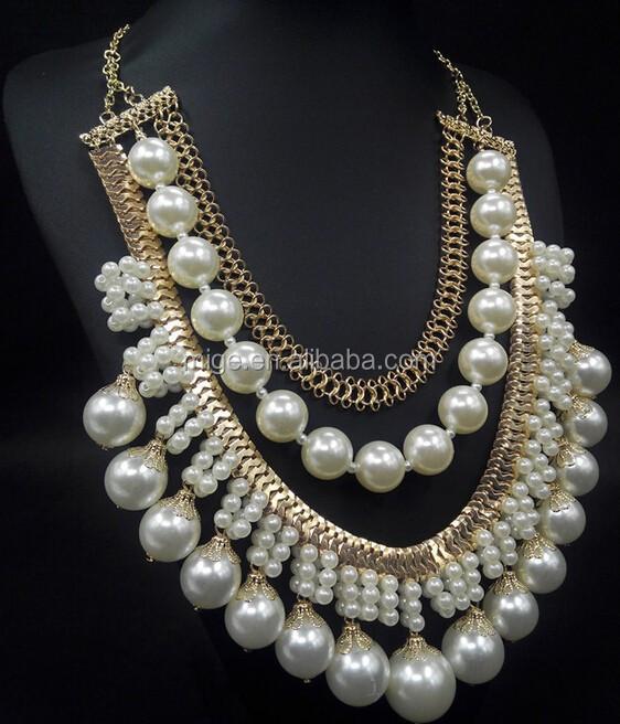 e00c166932e1 nuevo diseo primavera verano borla multicapa cadena larga oro perla  sencillo collar yiwu n