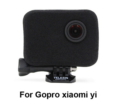 Go pro accessories xiaomi yi cover windproof cover for go pro hero4 Shell Wind-resistant Windproof cover