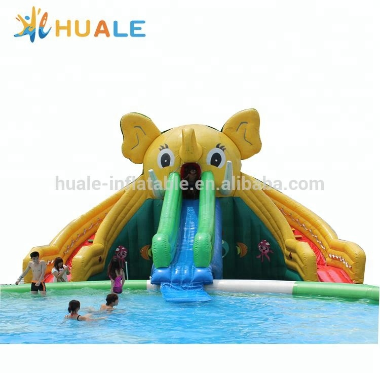 Giant inflatable elephant water slide for fun