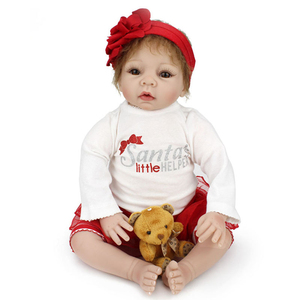 best selling products christmas gift silicone reborn baby dolls from china
