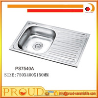above counter installation type and polished surface treatment kitchen sinks