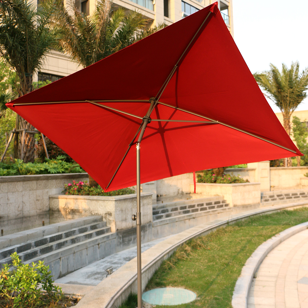7 ft Square Garden Patio Umbrella Outdoor Market Umbrella with Tilt Adjustment Perfect for Outdoors, Patio, or any Parties