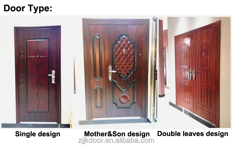 Jiekai s9041used wrought iron door gates wrought iron for French main door designs