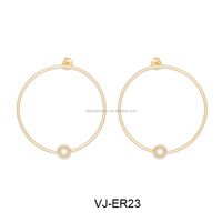 Qualified Women Fashion Big Hoop Earring Surgical Steel Jewelry findings