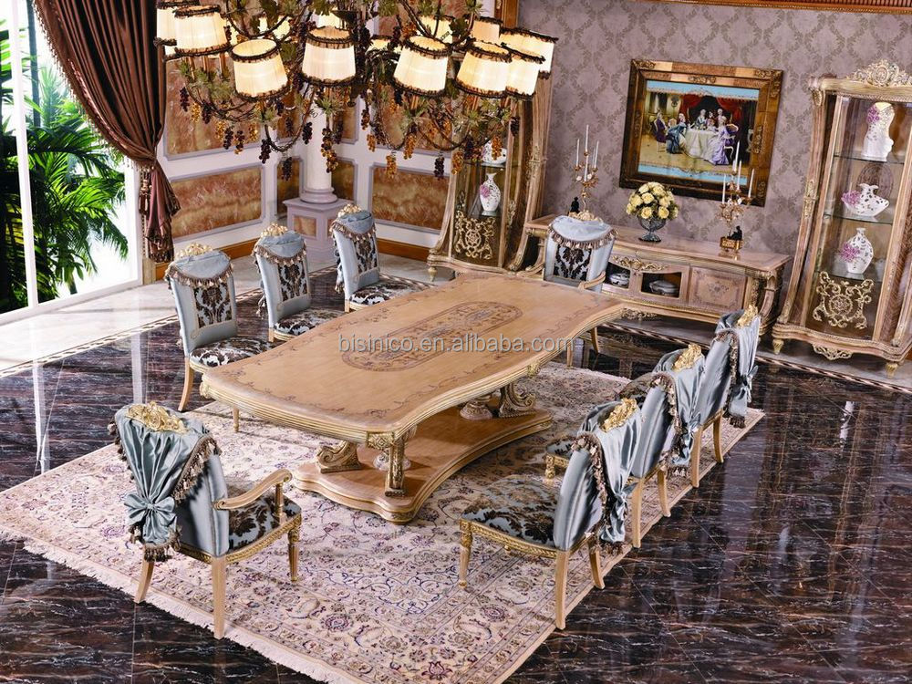 Luxury French Empire Dining Chair European Claissc Marquetry Art Dinging Room Furniture Royal