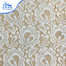 TH-8889 High Quality Jacquard 100% Nylon 3D Franch White Guipure Lace Fabric