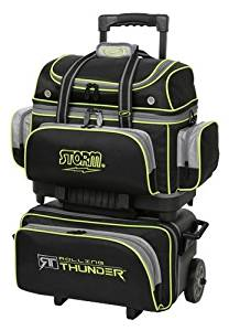Storm 4 Ball Rolling Thunder Bowling Bag- Black/Gray/Lime