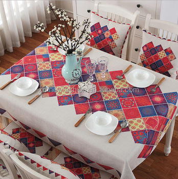 Merveilleux Fitted Square Tablecloths, Decorative Tablecloth, Restaurant Tablecloth
