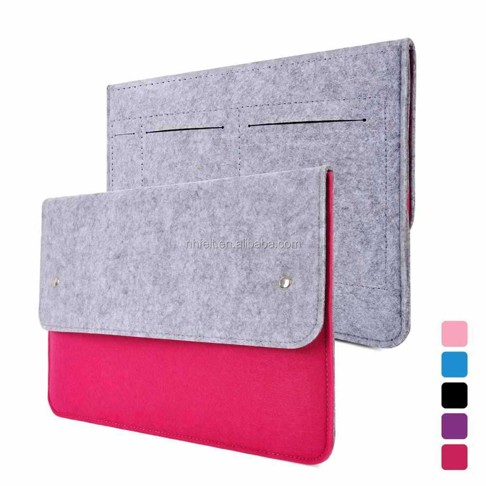 hollow watermelon red floret felt sleeve for laptop