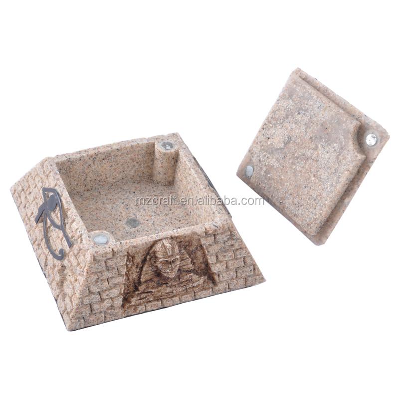 Egyptien Aquariums Decoration Resine Artisanat Ornement Pyramide