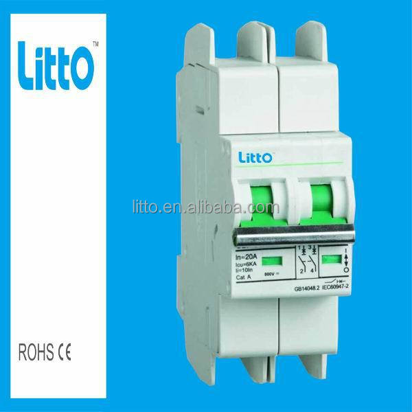New Type 500V 2P Solar DC 10A Circuit Breaker With SAA certificate