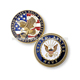 Newest 2d eagle design engraving soft enamel iron material imitation gold plating america army metal commemorative coin