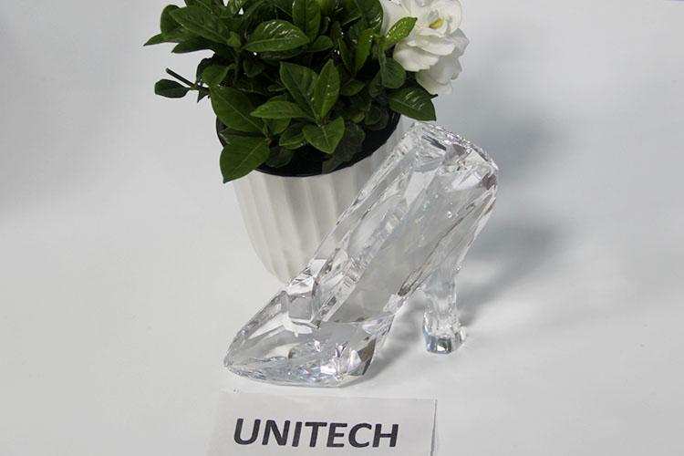 Grosir Cinderella Sepatu Kaca Sepatu Hadiah Tinggi Tumit Sepatu Kristal Figurine Kerajinan untuk Souvenir Pernikahan