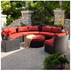 outdoor semi circle patio furniture round sofa lounge for sale