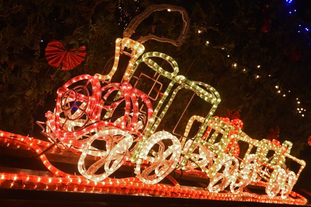 Holiday yard decorations outdoor christmas lighted train lights holiday yard decorations outdoor christmas lighted train lights for garden decoration aloadofball Image collections