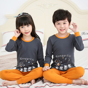 Kids Casual Sleepwear Boys Pyjamas Winter kids pajamas 2-10 years 100%  cotton 24332f0d2