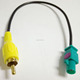 Adapter Fakra male to RCA male conversion cable