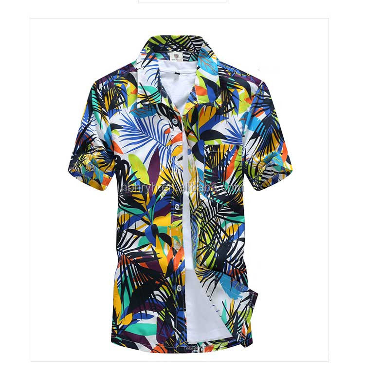 Summer Latest Hawaiian <strong>Shirts</strong> Wholesale For Men Pictures Mens Hawaiian Beach Printed <strong>Shirts</strong>