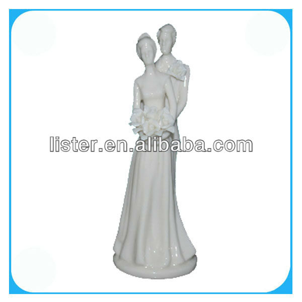Ceramic figure for wedding decorations