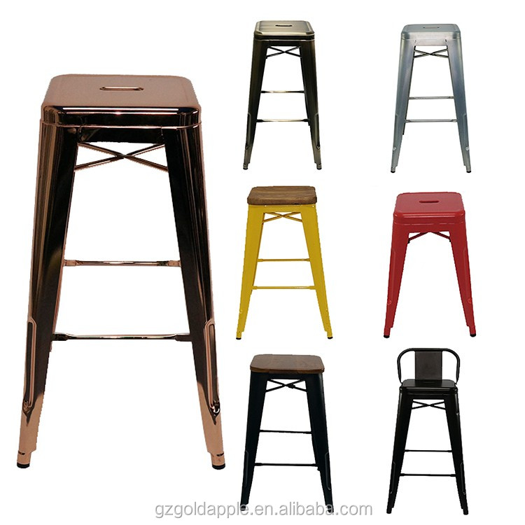 Commercial Use Bar Furniture High Chair Vintage Industrial