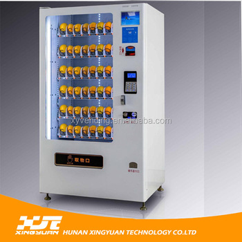 Automated Vending Coin Operated Orange Juice Fruit Vending