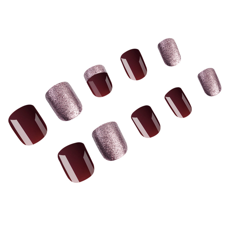 Wholesale Full Cover 24pcs/set Smooth glitter charm Design <strong>Acrylic</strong> False <strong>Nail</strong> Art <strong>Tips</strong> korea