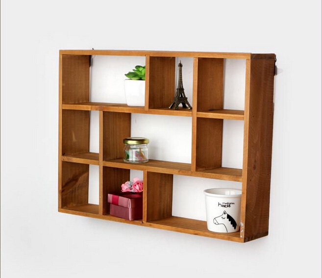 Buy Hollow Wooden Wall Shelf Storage Holders and Racks ...