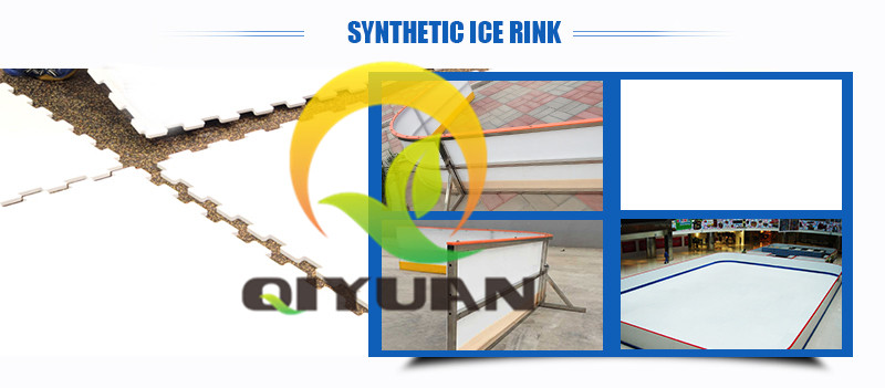 High quality synthetic ice rink mobile public ice skating rink