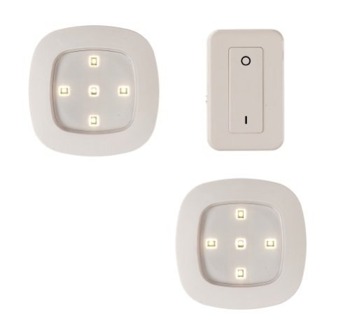 Light It! By Fulcrum 30022-308, Wireless Remote Control LED Lights, 4 Inch, White, 3 Piece Set