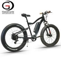 Gaea high speed electric fat bike 48v 500w lithium battery electric mountain bicycle