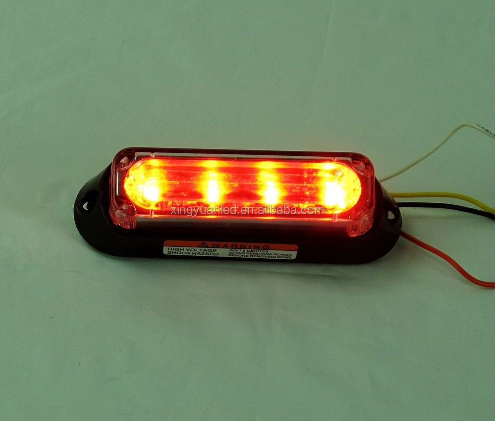 Led Grill Strobe Light Red Green Blue Yellow Warning Lights 3 Led ...