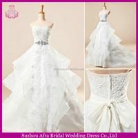 SW812 organza and lace corset elegant informal fashion wedding dresses 2014