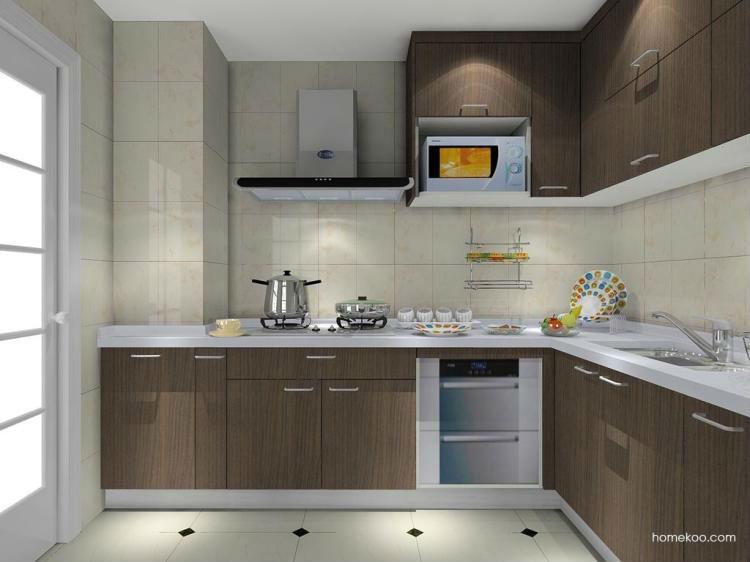 Muebles de cocina l tipo ambry integral combinaci n for Muebles de cocina en l