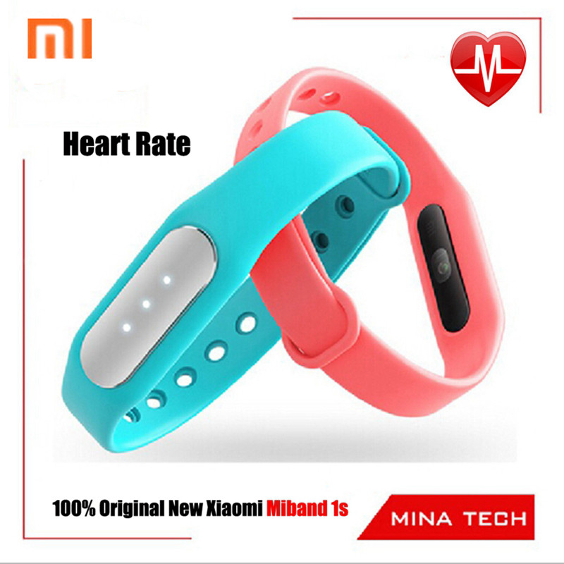 Original New Heart Rate Xiaomi miBand 1s mi band light sense version New Pulse Better Band/mi-Fixed n Charger  In stock