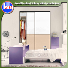 2017 Modern design home furniture wood clothes closet sliding door wardrobe closet