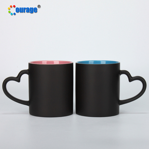 Unique Black Surface Color Inner Sublimation Cold Color Change Magic Mug