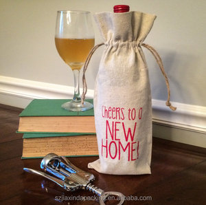 Jute Gift Wine Bottle Bags