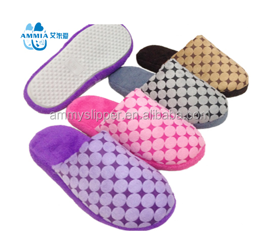 OEM women lady indoor hotel TPR cheap indoor slippers