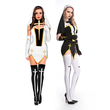 adult women sexy nun costumes for halloween cosplay party fancy dress