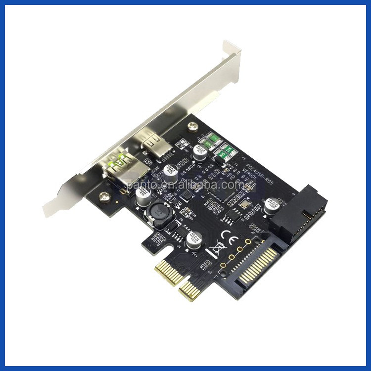 Desktop Usb3.0 Gen 1 Type C Pcie Controler Card Pci Express To Usb ...