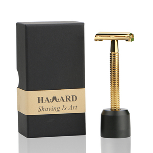 Long handle high quality double edge blade razor butterfly safety razor set