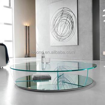 Inside Design Salontafel.N781 Italia Round Glass Coffee Table Glass Cutting Dinning Table