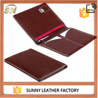 Mahogany Brown RFID Leather passport holder Travel wallet Free pen included