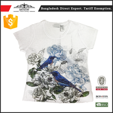 Professional manufacturer wholesale t-shirts bulk cheap t shirts printing for women with factory price