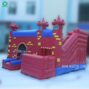Simple design red jumping castle inflatable air castle for commercial rental guangzhou